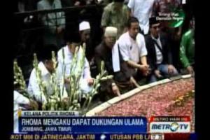 Raja dangdut Rhoma Irama lakukan kunjungan dan silaturahmi ke Jombang Jatim guna meminta restu ke Dewan Syuro PKB