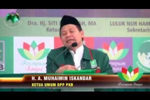 Ketum DPP PKB, A Muhaimin Iskandar Berikan Sambutan di acara Pelatikan Perempuan Bangsa.