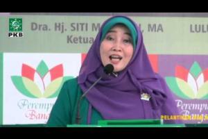 Sambutan Siti Masrifah Ketum DPP Perempuan Bangsa (PB) diPelantikan dan Raker Perempuan Bangsa periode 2014-2019
