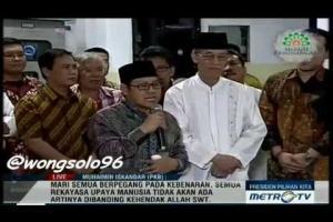 Ketua Umum DPP PKB Berikan Tausyiah Kemenangan Pasangan Capres Jokowi - JK